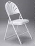 Rental store for CHAIR WHITE FAN BACK FOLDING in Cornelius OR